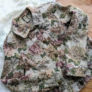 Floral Jean Jack Vintage button up